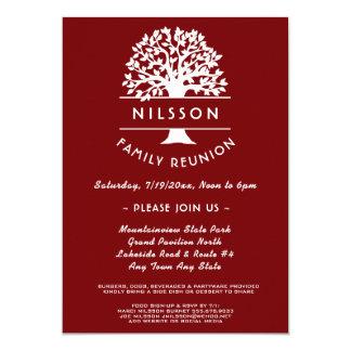 Invitation rouge de la Réunion de famille de baie