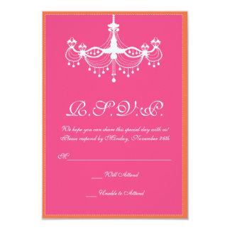 Invitation RSVP de lustre de roses indien et