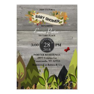 Invitation rustique de baby shower de créature de