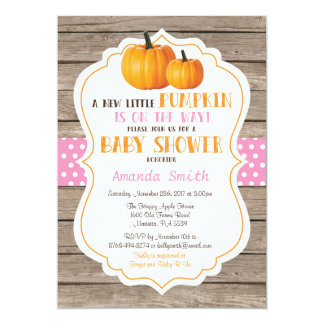 Invitation rustique de baby shower de fille
