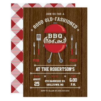 Invitation rustique de barbecue