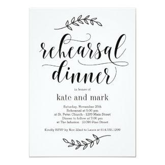 Invitation rustique de dîner de répétition