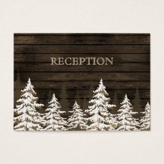 Invitation rustique de réception d'hiver de pins