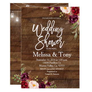 Invitation rustique de wedding shower