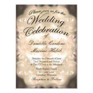 Invitation rustique vintage de mariage campagnard