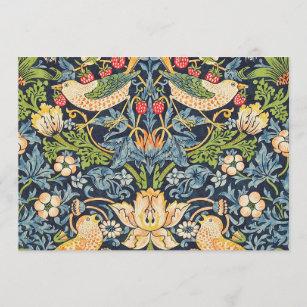 Invitation Schéma floral William Morris Strawberry Thief