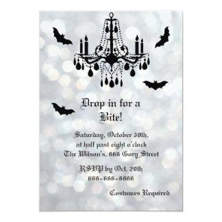 Invitation scintillante argentée de Halloween de