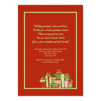Invitation secrète de partie de Père Noël