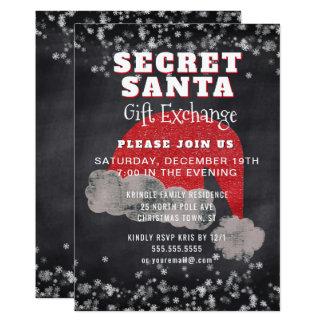Invitation secrète de partie d'échange de cadeau