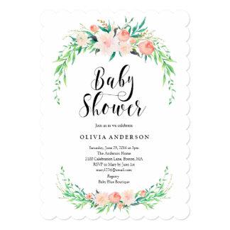 Invitation sensible de baby shower de bouquet
