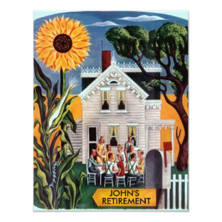 Invitation sourcilleuse rurale de retraite de