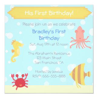 Invitation sous-marin d'anniversaire de thème