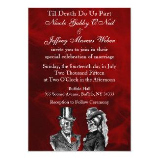 Invitation squelettique de crânes de mariage