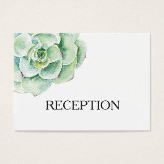 invitation succulent de réception de mariage