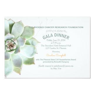 Invitation succulente élégante de dîner de gala