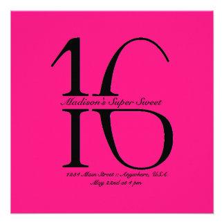 Invitation superbe du bonbon 16 à Strikethrough