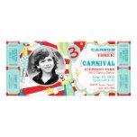 Invitation T-AQRD d'anniversaire de clowns de cirq