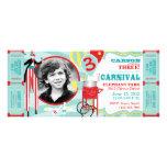 Invitation T-AQRD d'anniversaire de thème de carna