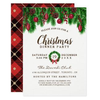 Invitation traditionnelle de fête de Noël