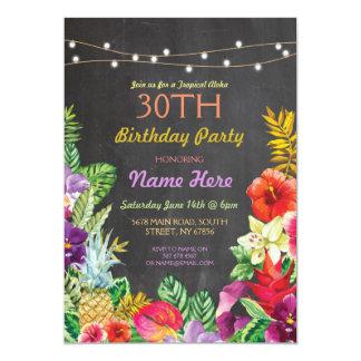 Invitation tropical de fête d'anniversaire de