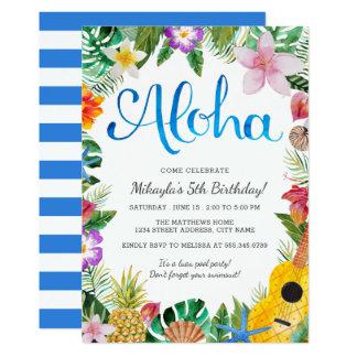 Invitation tropical de fête d'anniversaire de Luau