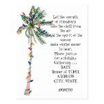 Invitation tropical de fête de vacances d'arbre de cartes postales