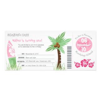 Invitation tropicale d anniversaire de carte d emb