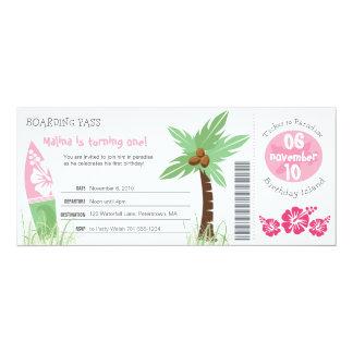 Invitation tropicale d'anniversaire de carte
