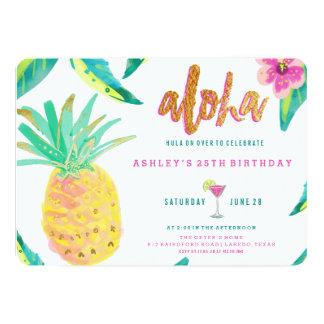 invitation tropicale d'anniversaire de luau