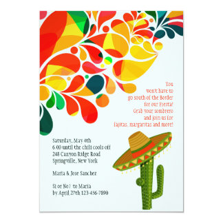 Invitation tropicale de Cinco De Mayo de fiesta
