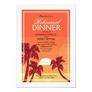Invitation tropicale de coucher du soleil