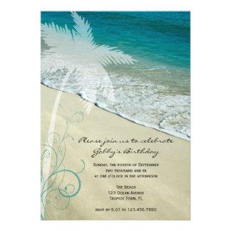 Invitation tropicale de fête d anniversaire de pla