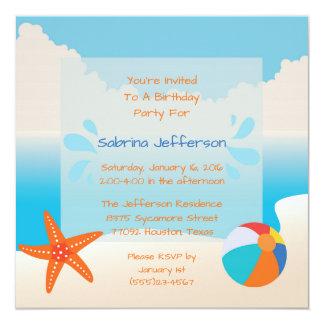 invitation tropicale de fête d'anniversaire de