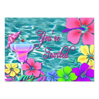 Invitation tropicale de partie -