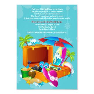 Invitation tropicale de partie de Bachelorette de