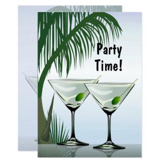 Invitation tropicale de partie de cocktails de