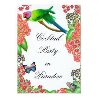 Invitation tropicale de partie de perroquet