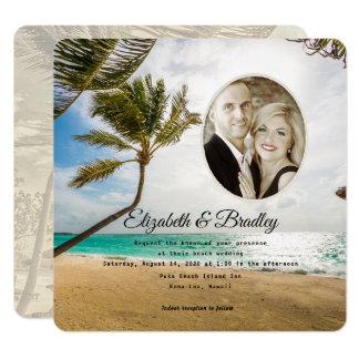 Invitation tropicale de photo de mariage de
