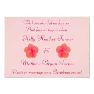 Invitation tropicale de réception de mariage de