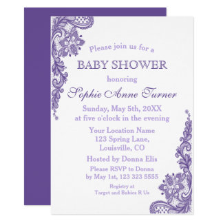 Invitation ultra-violette moderne de baby shower