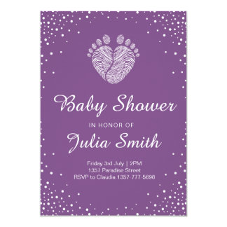 Invitation unisexe de baby shower
