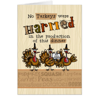 Invitation végétarienne de dîner de thanksgiving cartes de vœux