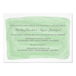 Invitation vert de mariage d'aquarelle