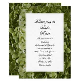 Invitation vert de mariage de fleur d'hortensia