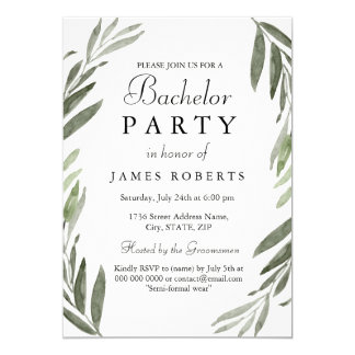 Invitation vert simple moderne d'enterrement de