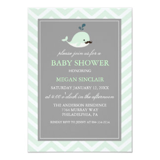 Invitation verte de baby shower de garçon de