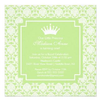 Invitation verte de fête d anniversaire de princes