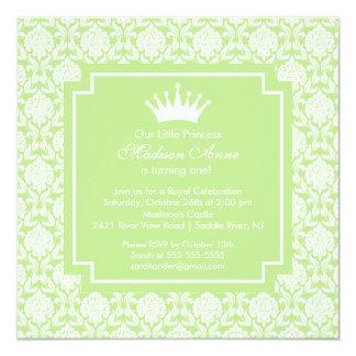 Invitation verte de fête d'anniversaire de carton d'invitation  13,33 cm