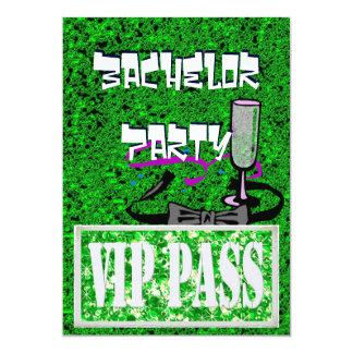 Invitation verte de partie du célibataire VIP