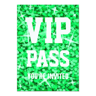 "Invitation verte de ""PASSAGE de VIP"" de"